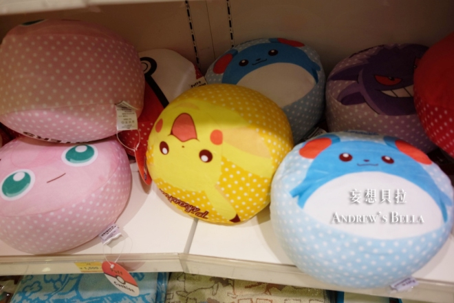 大阪必買 神奇寶貝中心 胖丁 瑪力露 皮卡丘 抱枕