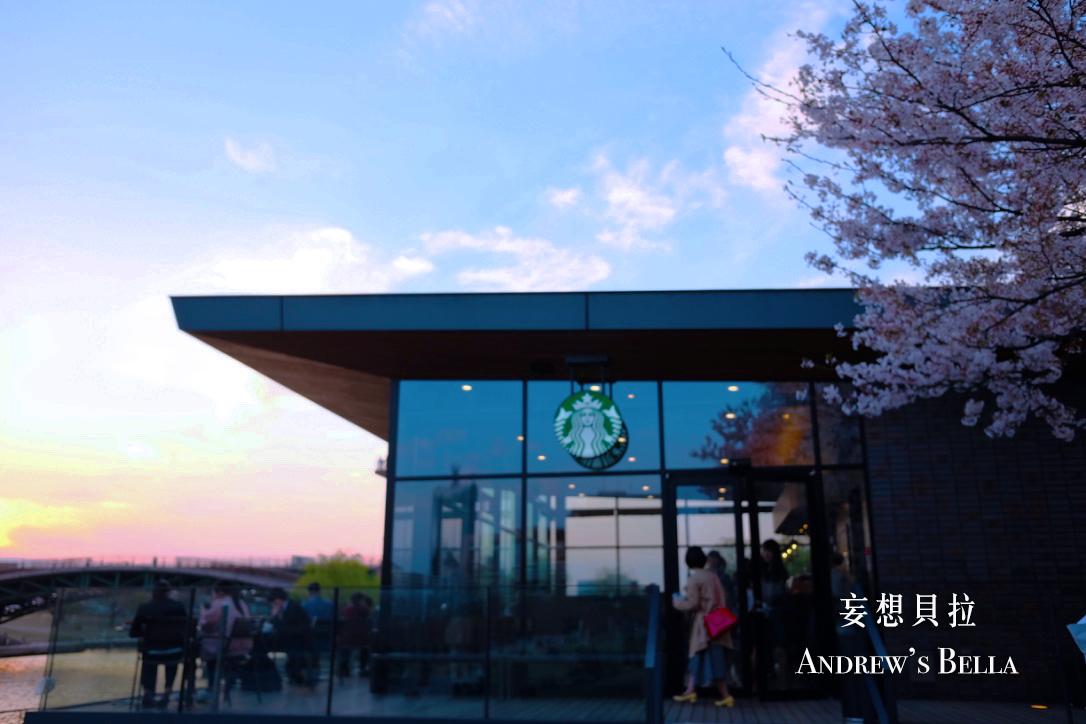 富山旅遊 賞櫻景點推薦 星巴克夕陽