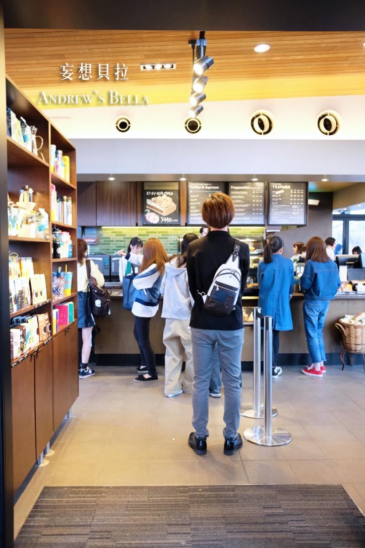 富山旅遊 賞櫻景點推薦 星巴克櫃檯
