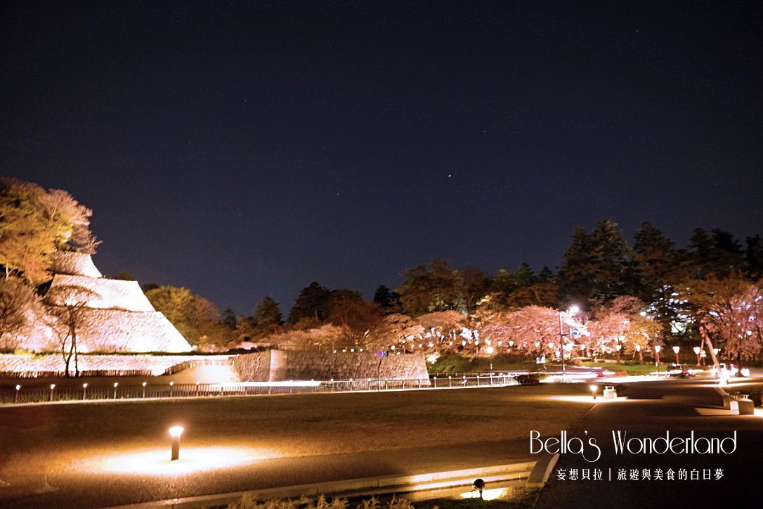 日本賞櫻 - 金澤城公園晚上滿開