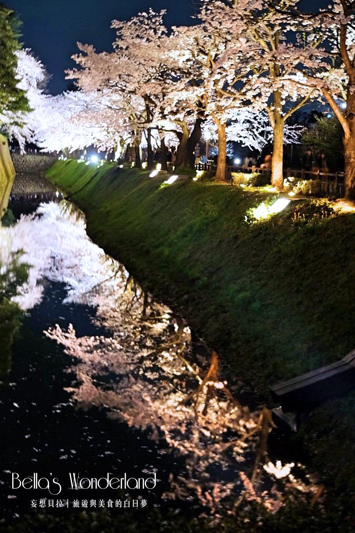 日本賞櫻 - 金澤城水中櫻花