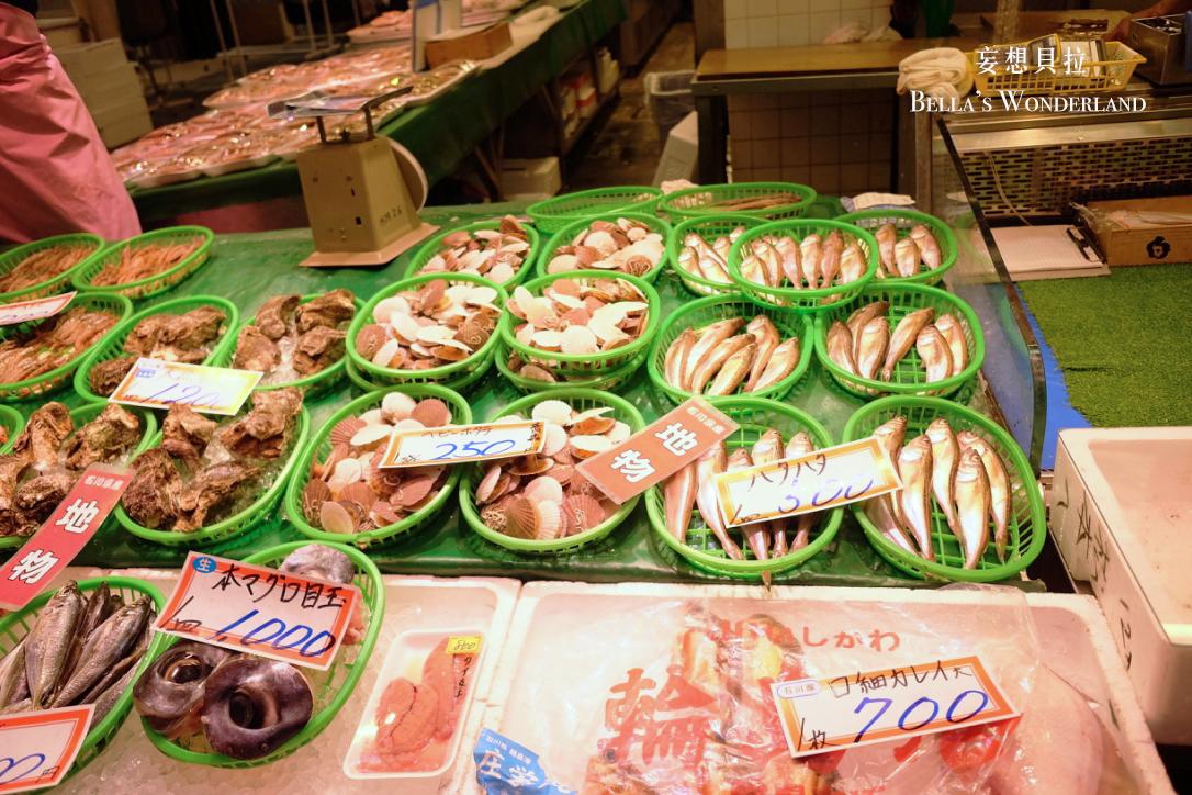 金澤美食 近江町市場的推薦美食地圖 不知名貝類
