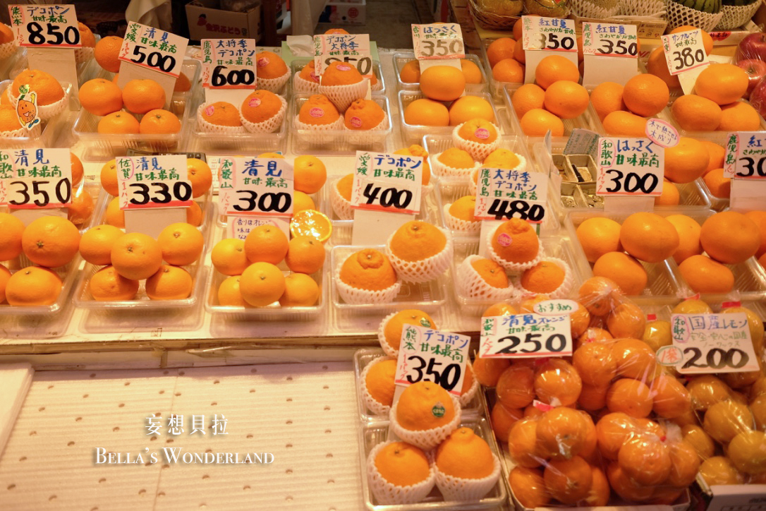 金澤美食 近江町市場的推薦美食地圖 水果攤 橘子 蜜柑