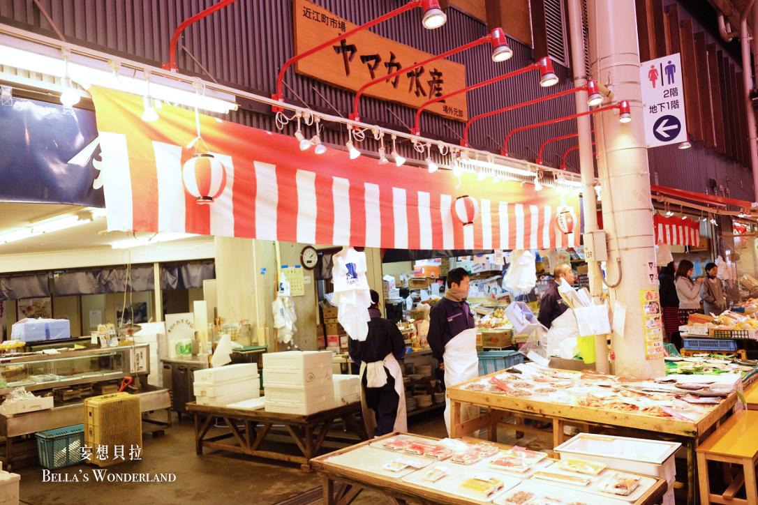 金澤美食 近江町市場的推薦美食地圖 水產 攤販