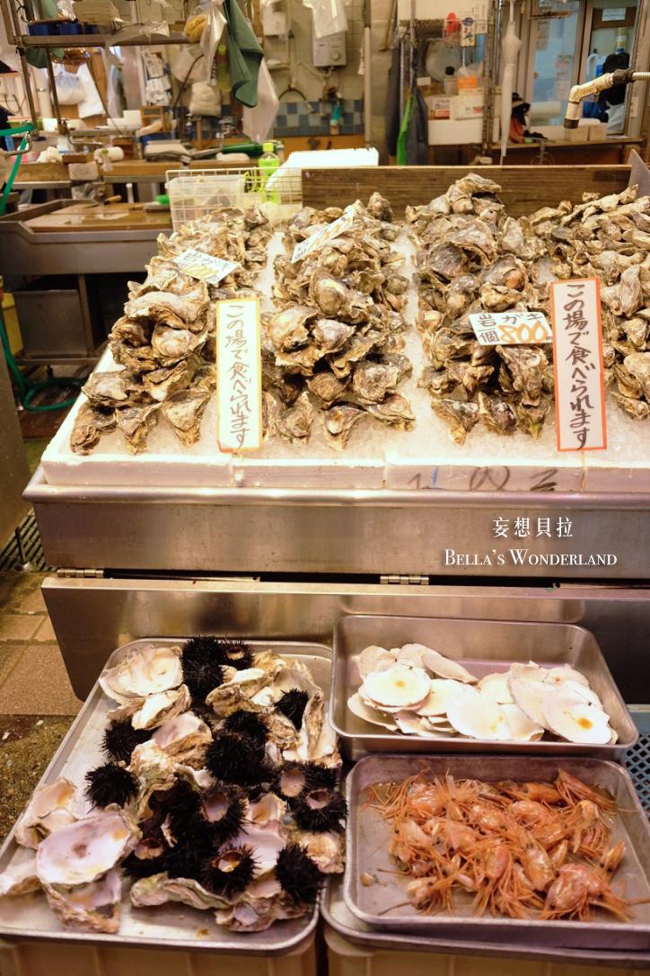 金澤美食 近江町市場的推薦美食地圖 生蠔 海膽 甜蝦 立吞