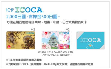 ICOCA  HARUKA 線上預約教學 大阪 京都卡片圖案