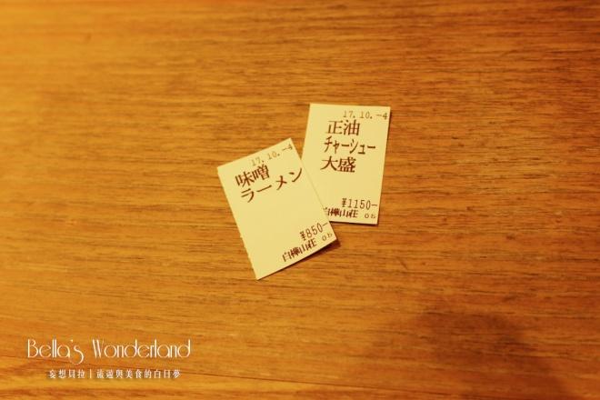 京都 拉麵小路 北海道 味噌拉麵 白樺山莊 食券