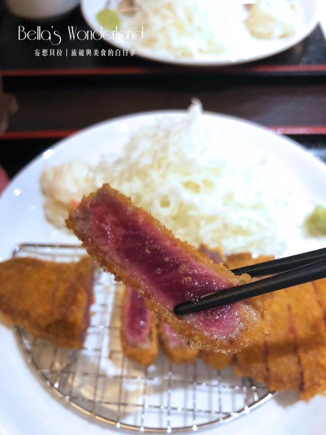 東京美食 銀座必吃超美味炸牛排 五分熟牛排